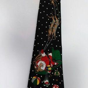 Santa Reindeer Novelty Tie Christmas Sleigh Neckti